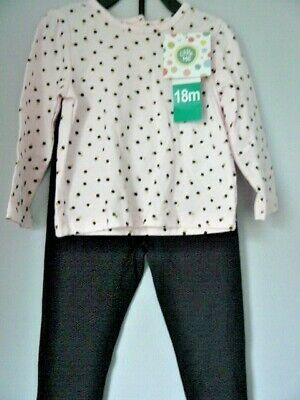 Girls 2 Piece Outfit By Little Me (Carters USA) To Fit Age 4 New With Tags