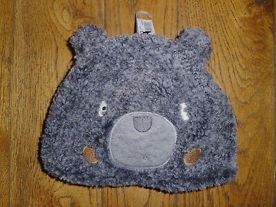 FURRY GREY BEAR HAT by NEXT - BNWT - 12-18 Mths