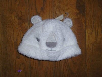 FURRY POLAR BEAR HAT by NEXT - BNWT - 6-12 Mths