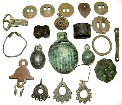 Ancient medieval lot of 21 pcs bronze artifacts .