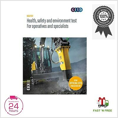 CSCS Card Test Book Health and Safety Operatives and Specialists 2019 100/19 NEW