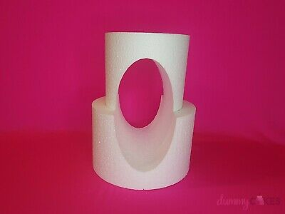 Two Tier Oval Cut-Out Cake Dummy