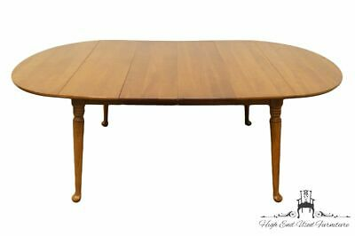 """High End Colonial Style Solid Hard Rock Maple 84"""" Drop Leaf Dining Table"""