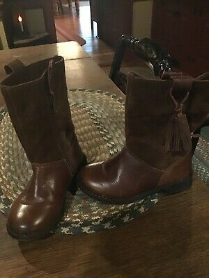 Zara Toddler Girls Leather/Suede Boots....size 8.5