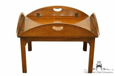 """High End Traditional Style Mahogany Banded Bookmatched 42"""" Accent Butler's Co..."""