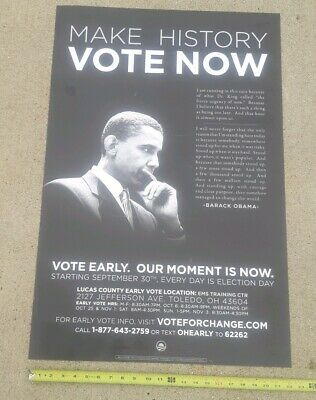 PRESIDENT BARACK OBAMA YES WE CAN POSTER POLITICAL COLLECTIBLE 22x34 free ship