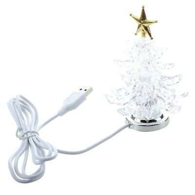 USB Powered Miniature Christmas Tree With Multicolor LEDs Q2K5