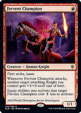 MTG Magic - Fervent Champion - Throne of Eldraine - Rare