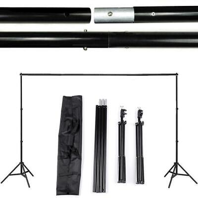 2x3M 10FT Photo Studio Background Backdrop Support Stand System Set w/Carry Case