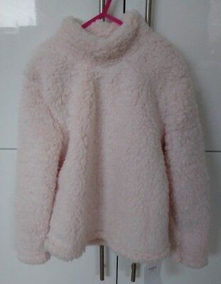 Ultra cosy M&S 7-8 pink fleecy furry pyjama top Marks and Spencers BNWT new