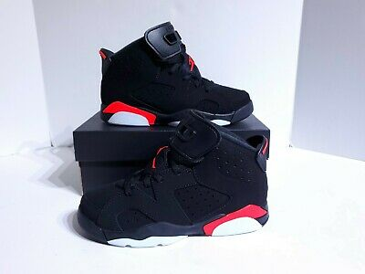 "Pre School Sizes Nike Air Jordan Retro 6 Suede /""Black UNC/"" Athletic 384666 006"