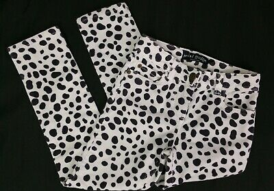 Girls Clothes MINI BODEN Dalmation Cream/Black Corduroy Jeans Trousers 7 Years