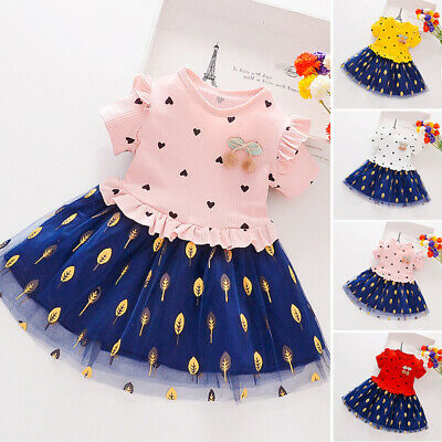 Kids Girls dress Children Toddlers Party Girls dress Autumn Cotton Casual