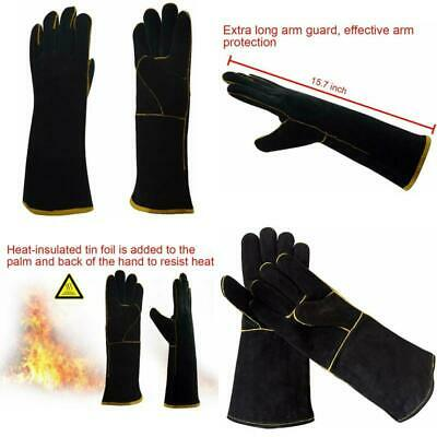 1 Pair Extra Long Professional Oven Mitts Heat Resistant Up to 450℉ Cooking
