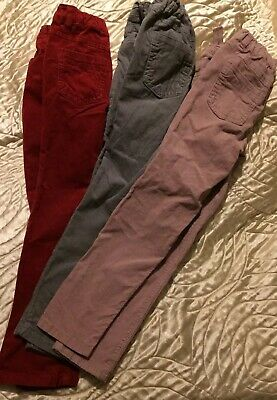 Next 3 Pairs Soft Girls Grey/pink/red Skinny Jean Trousers *excellent Condition*