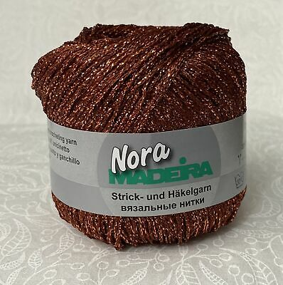 Madeira Metalized Nora Knitting & Crochet Yarn, 100m Colour 327 COPPER