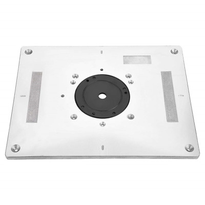 FTVOGUE Router Table Insert Plate with Guide Pin Snap Insertion Rings Aluminum x