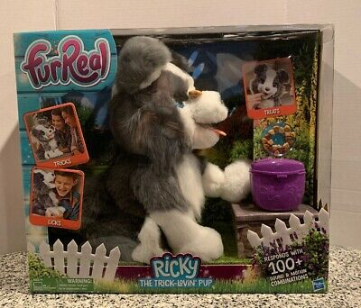 FurReal Friends Ricky the Trick-Lovin' Pup Interactive Plush Pet New In Box