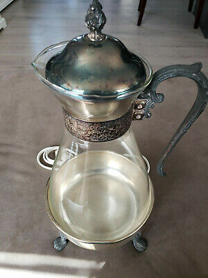 Sheridan Silver Co Glass Carafe Coffee Warmer No 509 E Tarnished 120V 60 Watts