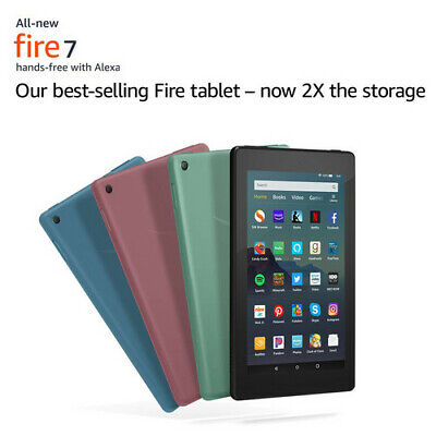 """NEW Amazon Kindle Fire Tablet 7"""" 16 GB- 9th Generation 2019 Release - All Colors"""