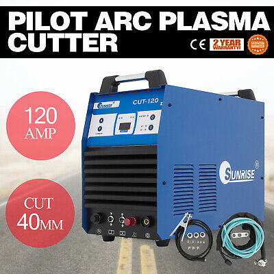 CUT-120 Digital Pilot Arc Plasma Cutter 120 Amp HF Inverter IGBT Cut 40mm 380V
