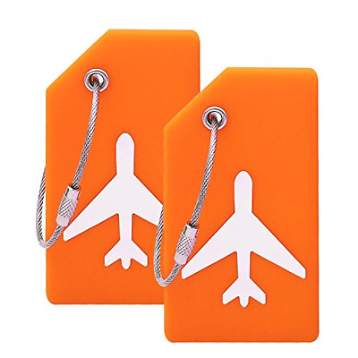 Silicone Luggage Tag With Name ID Card Perfect to Quickly Spot Suitcase FLEXIBLE