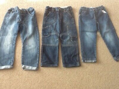 F&F TESCO Boys Bundle 4-5 Y 3 Pairs Blue Denim Jeans Trousers Combined Post VGC