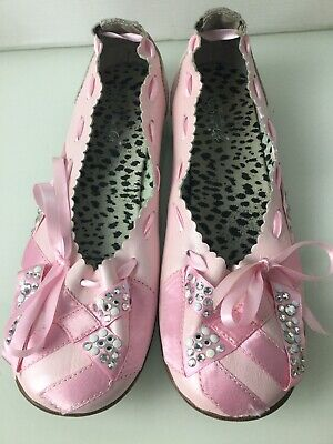 Roberto Cavalli Angels Pink Leather Ballet Flat Shoes. Size 3UK. Ex Cond