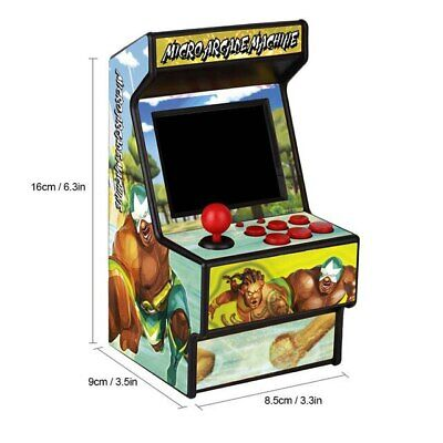 Data Frog Mini Arcade Handheld Game Console 16 Bit  Player Built-in 156 Games