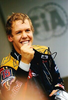 Sebastian Vettel Signed 12X8 Photo FORMULA 1 RACING REDBULL AFTAL COA (3608)