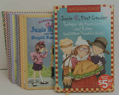 Lot of 10 Junie B. Jones Chapter Books First Grader Barbara Park Turkeys