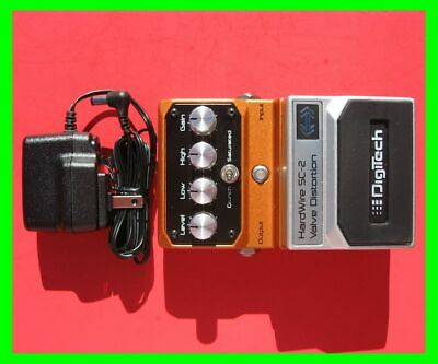 2009 DigiTech SC-2 Valve Distortion Pedal w/ Dunlop 9v 660mA AC Adapter **Mint**