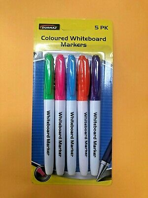 5 Pack Premium Coloured Whiteboard Markers Green Pink Blue Purple Orange | Hyt