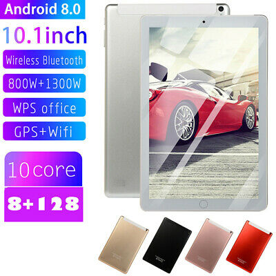 """10.1"""" GPS+WiFi  4G-LTE HD IPS PC 128G Tablet Android 8.0 Dual SIM Camera"""