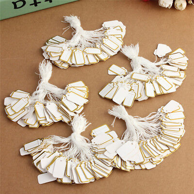 500Pcs String Label Jewelry Pricing Paper Price Tags Chain Tag Store Supply Tool