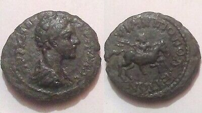 Severus Alexander Rare genuine Ancient Roman Coin horserider spear Philippopolis