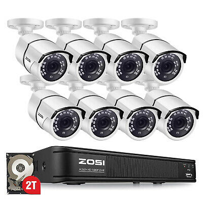 ZOSI HDMI 8CH 1080P CCTV Security Outdoor Camera DVR Night Vision System 0-1TB