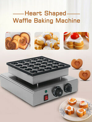 Commercial Electric Heart muffin maker Snacks machine Waffle Irons with 25 holes