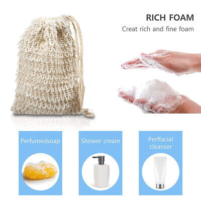 Eco Friendly Natural Sisal Soap Bag Soap Saver Mesh Exfoliator Foaming Pouch HOT