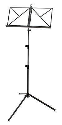 Adjustable 65-130 cm Metal Sheet Music Stand Holder Tripod Foldable Heavy Black