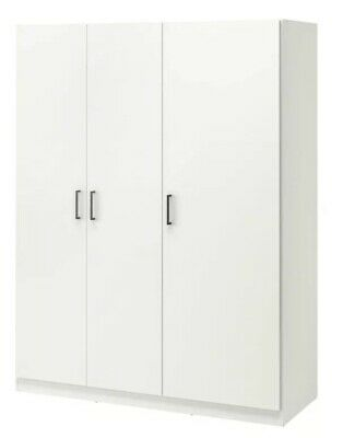 IKEA DOMBAS Double Wardrobe - White/oak