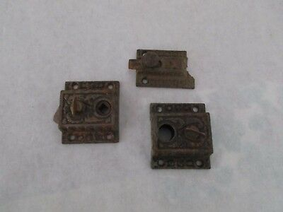 Lot of 3 Pieces of East Lake Style Hardware - Salvage