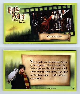 Restricted Section #33 Harry Potter & The Sorcerer's Stone 2001 WOTC Card