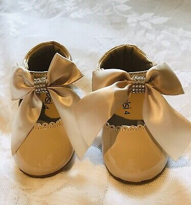 Girls Spanish Bow Shoes. Toddler Kids  Flat Shoes. English Baby Size 4