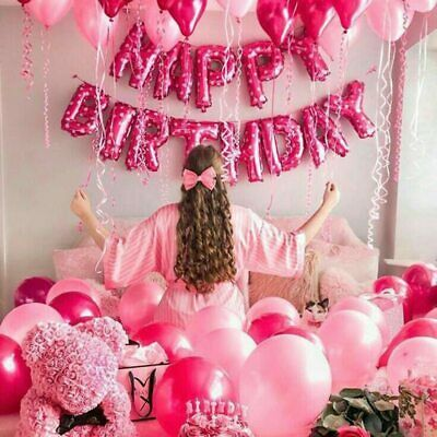 """16"""" Happy Birthday Letter Balloons Foil Baloons Baby Shower Party Gift Decor TOP"""