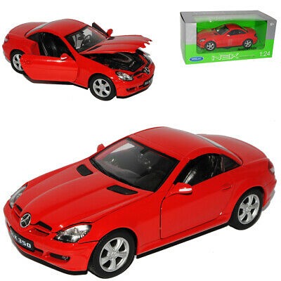 Mercedes-Benz SLK Cabrio Geschlossen Coupe Rot R171 2004-2011 1/24 Welly Model..
