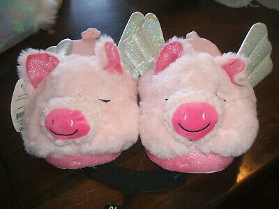 When Pigs Fly Bedroom Women's  Slippers  Pink with Wings  New with tags 9/10