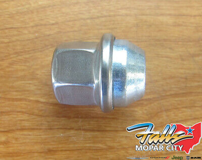 5 New Dodge Challenger Factory OEM Stainless Polished Lug Nuts 14x1.5 6509873AA