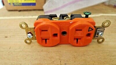 HUBBELL WIRING DEVICE-KELLEMS IG5362 20A Duplex Receptacle 125VAC 5-20R