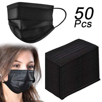 50X Disposable Surgical Dust Virus Flu Protector Face Masks Looped Ears Medical